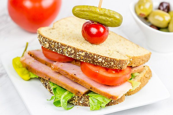Want to create a mouthwatering sandwich? Start with this delicious Honey Mustard Glazed Ham!