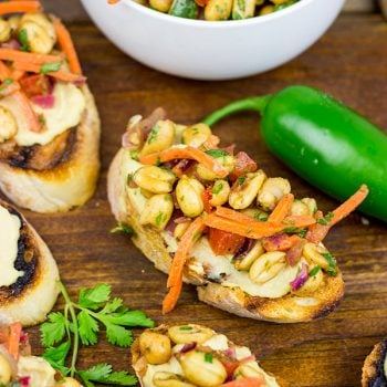 This Masala Hummus Toast is a unique summer appetizer that will have everyone coming back for more!