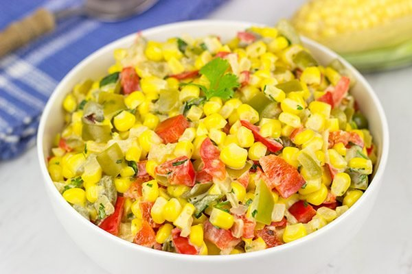 This Mexican Creamed Corn is a fun and easy side dish...perfect for summer evenings on the back porch!