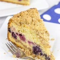 This Mixed Berry Coffee Cake is loaded with blueberries and raspberries for a tasty morning (or night) treat!