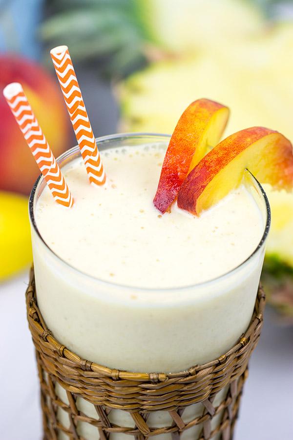 Pineapple Peach Oatmeal Smoothie