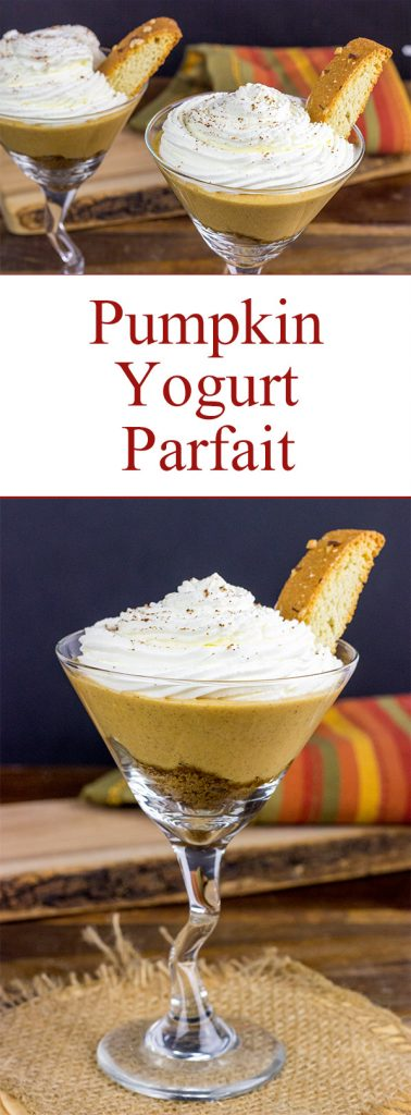This Pumpkin Yogurt Parfait is an easy and fun Fall dessert!