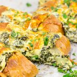 Spinach Artichoke Stuffed French Bread