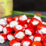 Goat Cheese and Chive Stuffed Piquante Peppers
