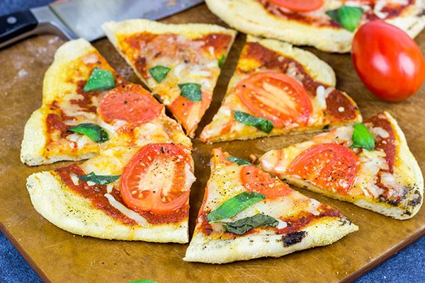 It's summer! Fire up the grill and make this Grilled Tomato Basil Pizza for dinner this weekend!