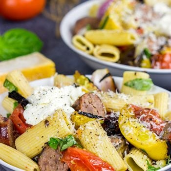 Rigatoni with Grilled Vegetables
