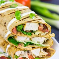 Tired of the same old lunch each day? These Crispy Chicken Bacon Ranch Wraps will solve that problem!