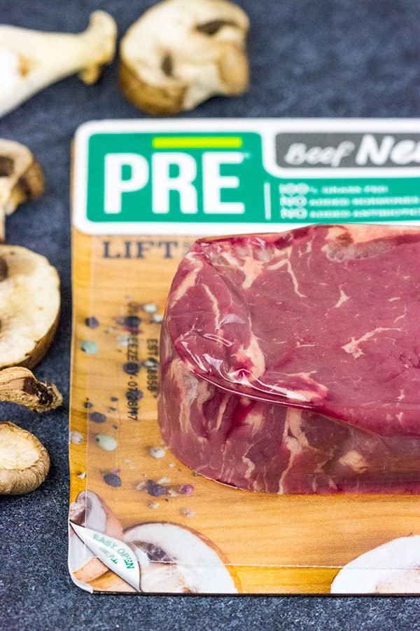 Celebrating a special occasion?  Or maybe just happy that it's Friday?  Try grilling up this Porcini Rubbed Steak with Sauteed Mushrooms for dinner tonight!