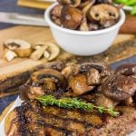 Porcini Rubbed Steak with Sauteed Mushrooms