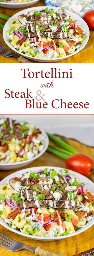 Do you like a classic wedge salad?  Then you'll love this Tortellini with Steak and Blue Cheese!