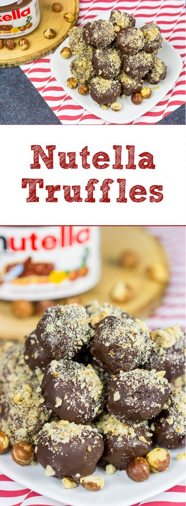 Mix up that holiday cookie tray with some of these Nutella Truffles!