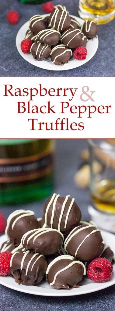 Raspberry Black Pepper Truffles