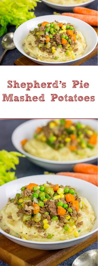 These Shepherd's Pie Mashed Potatoes are a delicious comfort meal...perfect for cold winter days!