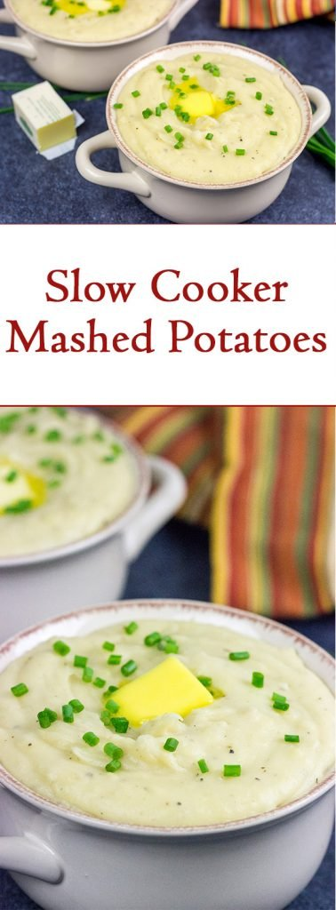 Make Thanksgiving easier with this Slow Cooker Mashed Potatoes recipe!  (Plus, these mashed potatoes are seriously delicious!)