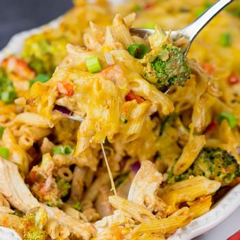 This Spicy Chipotle Chicken Pasta Bake is the perfect comforting dinner for a cool Fall or Winter evening!