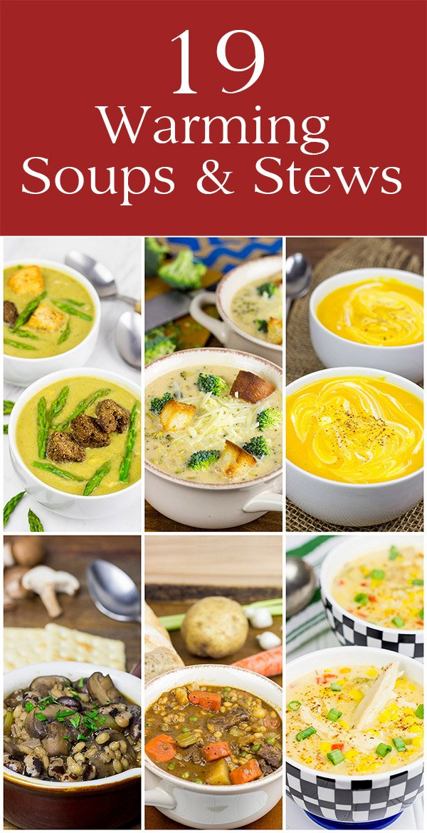 Looking for some inspiration for tasty winter meals? These 19 Warming Soups and Stews are sure to warm you up!