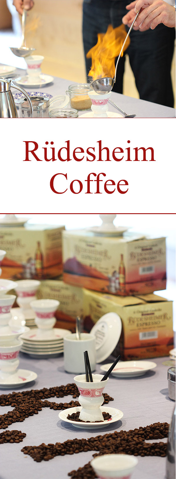 Rüdesheim Coffee is a unique German coffee cocktail featuring flambeed sweetened brandy topped with strong coffee, whipped cream and shaved chocolate.