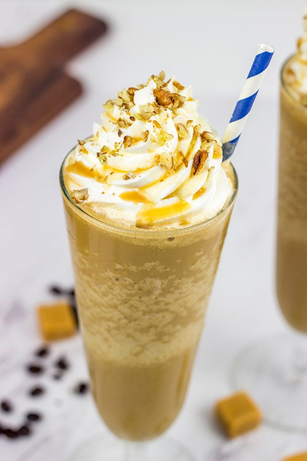 The deep flavors of caramel, maple and coffee make this Caramel Maple Frappe one delicious afternoon treat!