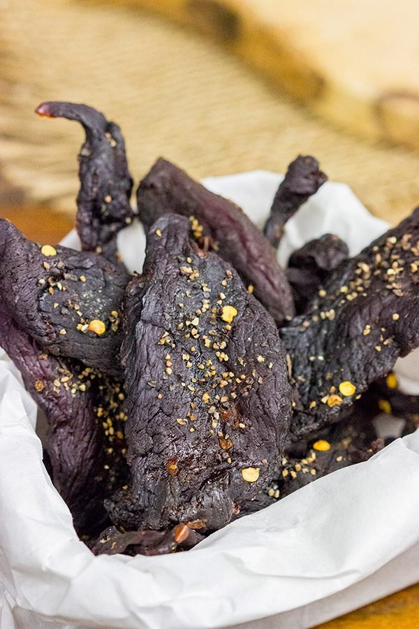 Ever made homemade jerky?  It's surprisingly easy...and really delicious!  This Homemade Venison Jerky Recipe is a favorite snack around our house!