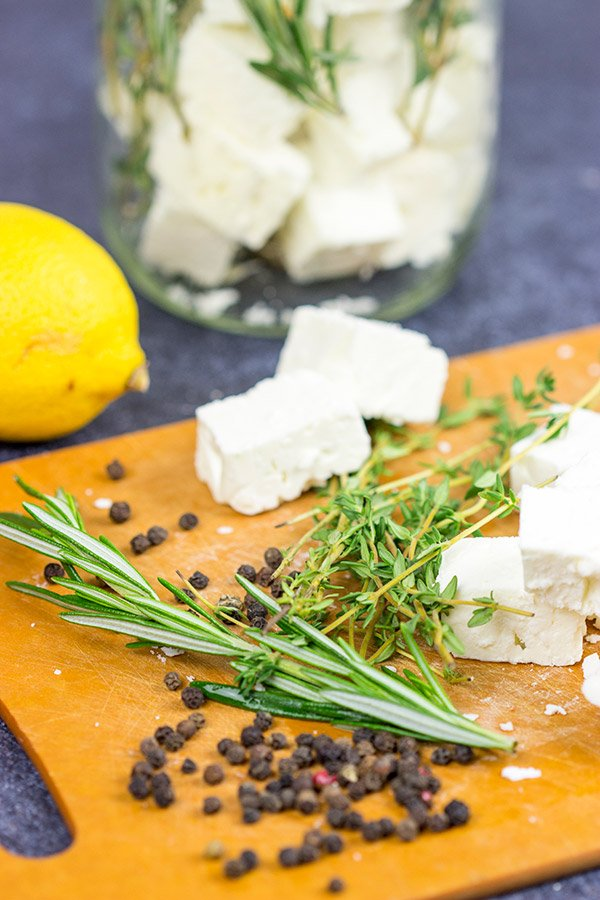 This Marinated Feta makes for a great holiday appetizer or light dinner!  Pop open a bottle of wine and share this one with friends!