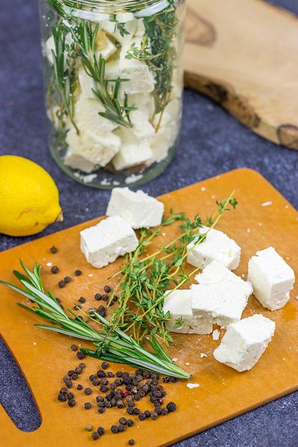 how to make marinated feta
