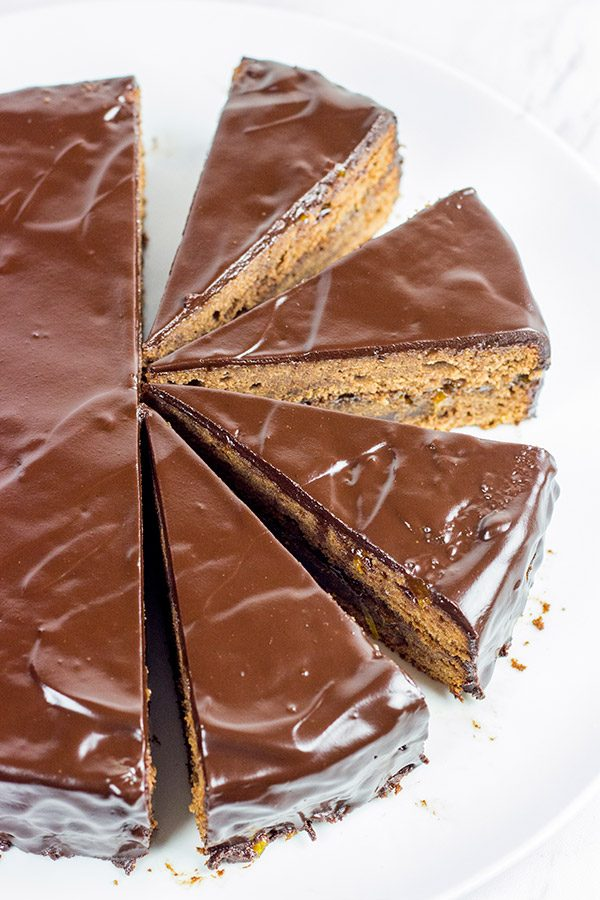 The Sachertorte is a classic European dessert featuring chocolate cake brushed with an apricot jam and then glazed with more chocolate! Grab a slice and a mug of coffee or tea for dessert tonight!