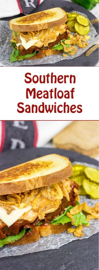Holy sandwich, Batman!  These Southern Meatloaf Sandwiches are the perfect comfort food on cold winter days!