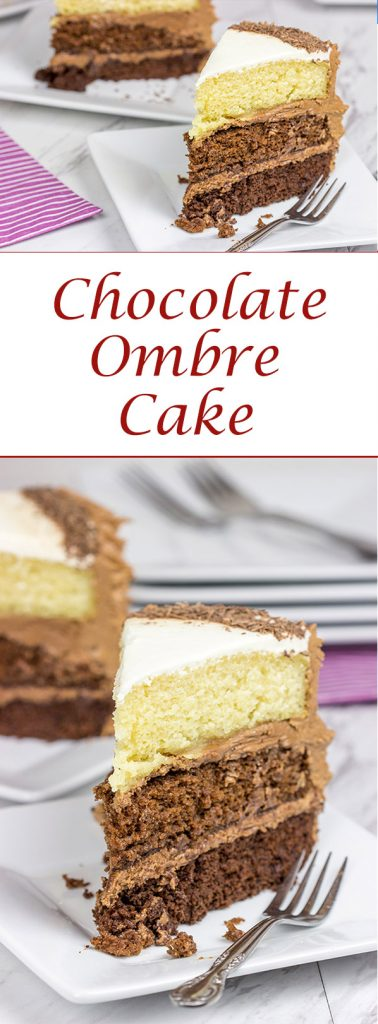Chocolate or vanilla? Don't worry about picking just one with this Chocolate Ombre Cake!