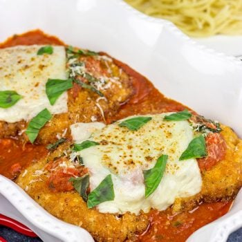 Chicken parm, you taste so good!  This Classic Chicken Parmesan recipe is the perfect comfort food for chilly winter days!