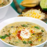 ThisSlow Cooker White Chicken Chili is perfect for cold winter days. A good squeeze or two of fresh lime juice adds a delicious boost of flavor to this recipe!