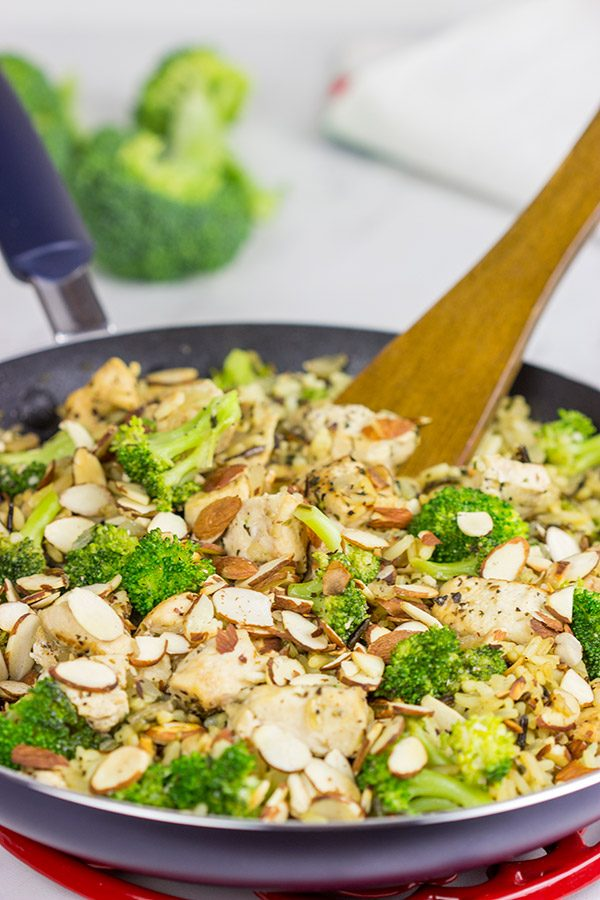 Looking for an easy weeknight meal?  This Chicken, Broccoli and Wild Rice Skillet is the perfect solution!