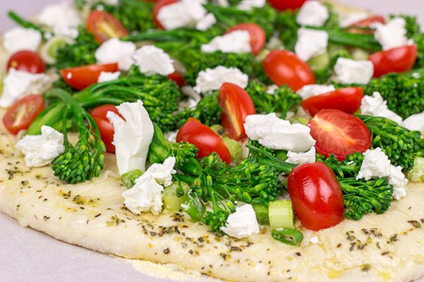Plan a pizza night soon, and put this Broccolini and Goat Cheese Pizza on the menu!