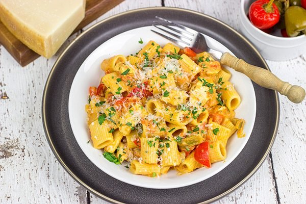 An upstate New York classic, Chicken Riggies are a delicious twist for pasta night!
