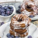 Glazed Blueberry Crullers