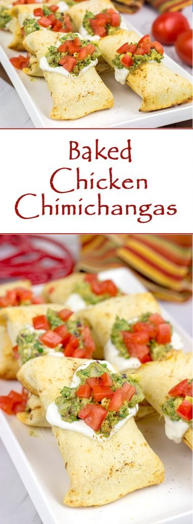 These Baked Chicken Chimichangas are a baked version of classic TexMex fare...and they're really delicious! Consider making a batch of these for your next party!