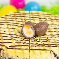 Get into the Easter spirit with a slice of this Cadbury Creme Egg Cheesecake! It's a dessert that everybunny will enjoy!