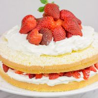 A slice of this Fresh Strawberry Cake is a wonderful (and tasty!) way to end a warm summer day!