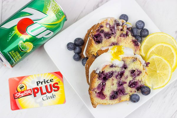 This Lemon Blueberry 7UP Pound Cake is packed with bright lemony flavor...and it's a great dessert for warm Spring days!