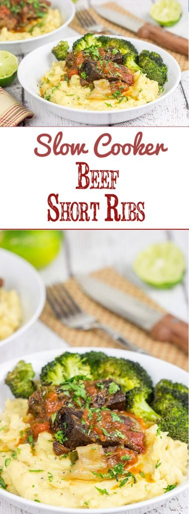 These Slow Cooker Beef Short Ribs are the ultimate slow cooker comfort food for a chilly day!