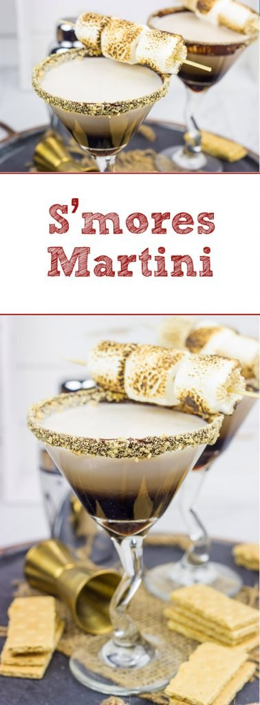 Whether serving this Smores Martini next to a campfire or just on the back porch, it'll be the talk of the party!  Cheers to fun summer drinks!