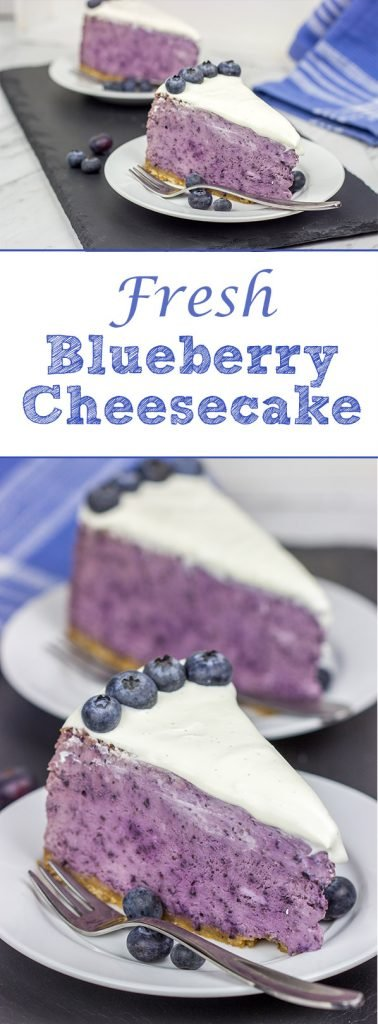 This Fresh Blueberry Cheesecake is packed with fresh summer blueberries...and it's a fun dessert to serve on a warm summer evening!