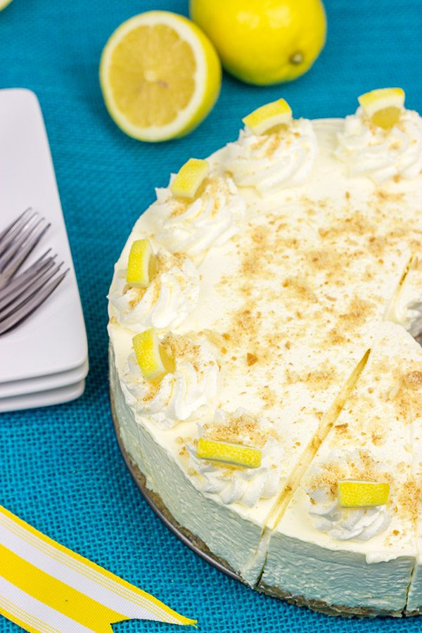 This No Bake Lemon Cheesecake makes for a tasty dessert on a warm summer evening!  Enjoy!