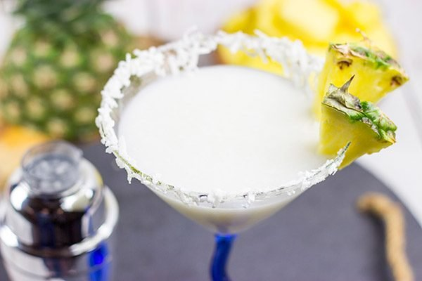 This Pineapple Coconut Martini is perfect for warm summer evenings on the back porch!  Cheers!