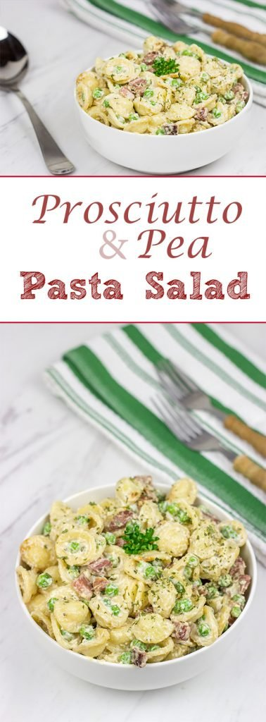 This Prosciutto and Pea Pasta Salad is a fun twist on a classic, and it's an excellent side dish to serve alongside your favorite grilled summer recipes!