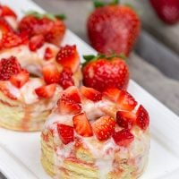 Featuring layers upon layers of flaky goodness, these Strawberry Puff Pastry Donuts are a tasty way to celebrate fresh summer strawberries!