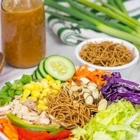 This Chinese Chicken Salad is packed with fresh produce, and it's a fun recipe to mix up weekday lunches!