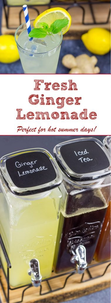 Summer will be here soon, and a nice cold glass of Fresh Ginger Lemonade is a great way to cool off!
