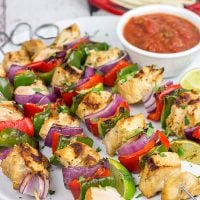 These Grilled Chicken Fajita Kabobs are a delicious way to enjoy dinner on the grill! Serve them alone or with tortillas and a spoonful of salsa...either way will be delicious!
