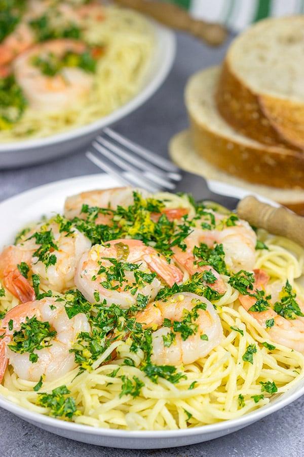 Shrimp Gremolata Linguine