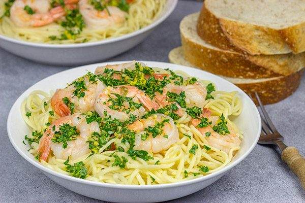 This Shrimp Gremolata Linguine comes together in 30 minutes (or less!), so it's a perfect pasta recipe for busy weeknights!